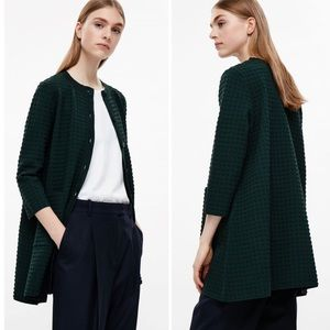 COS Hunter Green Texturized Oversized Cardigan S